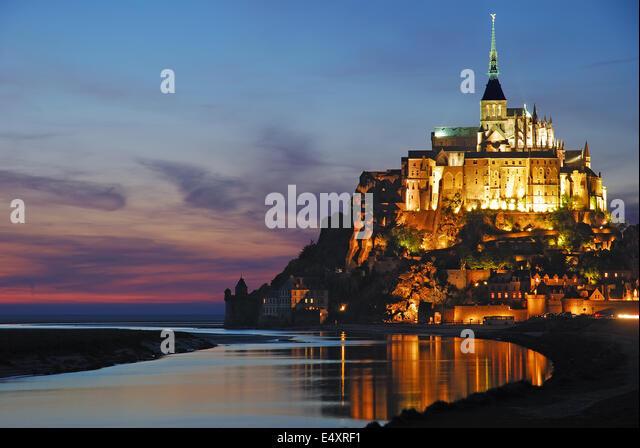 Mont Saint Michel, Normandie, Frankreich Stockbild