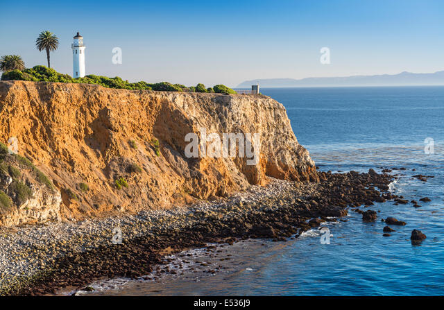 Los Angeles, Kalifornien, USA Point Vicente Leuchtturm in Rancho Palos Verdes. Stockbild
