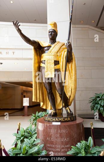 WASHINGTON D.C. - 23. Mai 2014: Statue von König Kamehameha i. in der Library of Congress in Washington DC. Stockbild