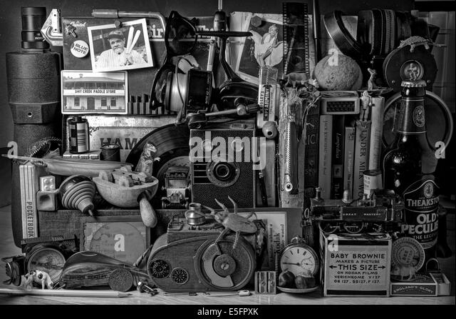 Old Boys Toys, Vintage Stuff, Nostalgie, Parsaphernalia Stockbild
