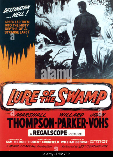 LURE THE SWAMP, 1957, TM & Copyright © 20th Century Fox Film Corp./Courtesy Everett Collection Stockbild