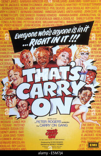 Das ist CARRY ON, 1979, © EMI Filme/Courtesy Everett Collection Stockbild