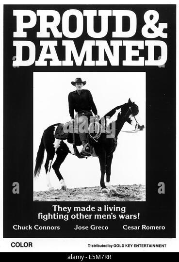 STOLZ und verdammt, das, Chuck Connors, 1972 Stockbild