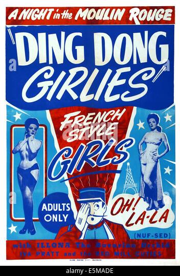 DING DONG, (aka DING DONG GIRLIES), US-Plakat, 1951 Stockbild