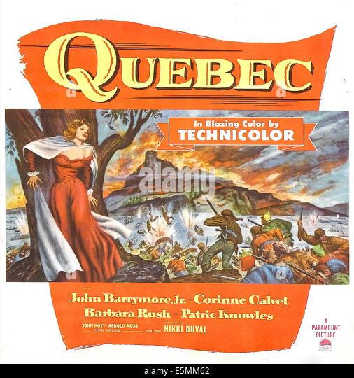 QUEBEC, US Plakatkunst, 1951. Stockbild