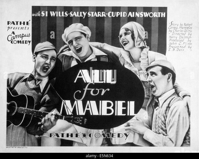 ALLES für MABEL, Sally Starr (oben rechts), 1930 Stockbild