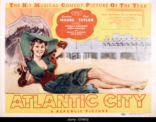 ATLANTIC CITY, Constance Moore, 1944 Stockbild