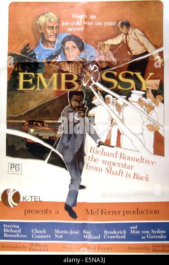Botschaft, Chuck Connors, Marie-José Nat, Richard Roundtree, 1972 Stockbild