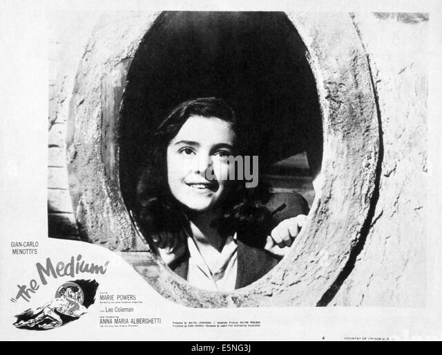 DIE mittlere, Anna Maria selbst, 1951 Stockbild