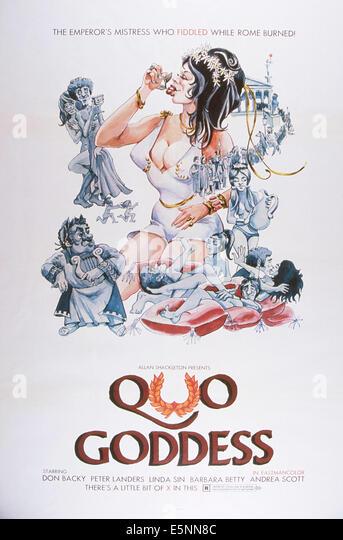 QUO-Göttin, US-Plakat, ca. 1960er Stockbild