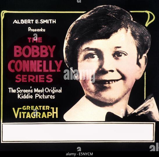 Plakatkunst für Bobby Connelly Serie von Kurzfilmen, 1910er Jahre Stockbild