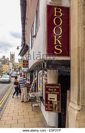 Antiquarische und seltene und aus print Buchhandlung in Stamford, Lincolnshire Stockbild