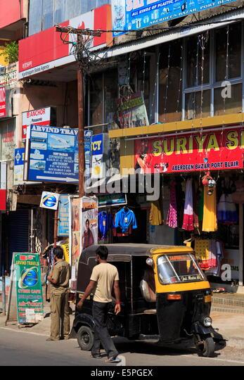 Straßenszene in Port Blair, Andamanen, Indien, Asien Stockbild