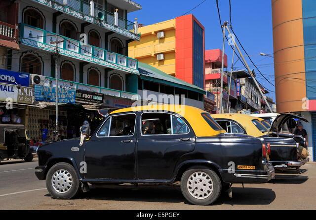 Die Taxis in Portblair, Andamanen, Indien, Asien Stockbild