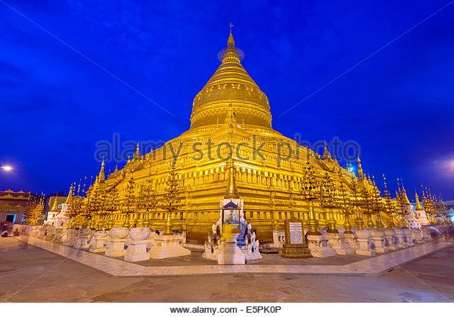 Shwezigon Pagode, Bagan (Pagan), Myanmar (Burma), Asien Stockbild