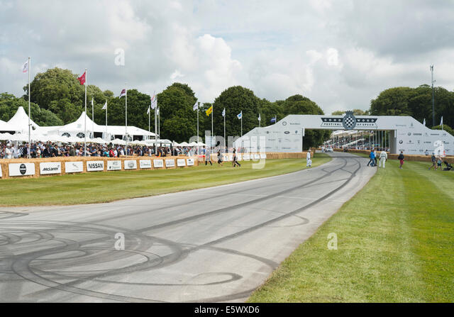 Bergrennen Track beim Goodwood Festival of Speed Stockbild