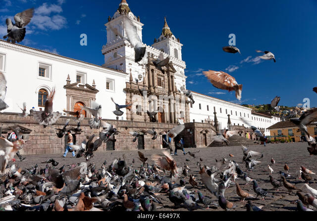Plaza San Fransisco, Quito, Ecuador Stockbild