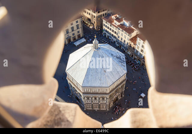 Baptisterium in Piazza del Duomo, Florenz, Italien Stockbild