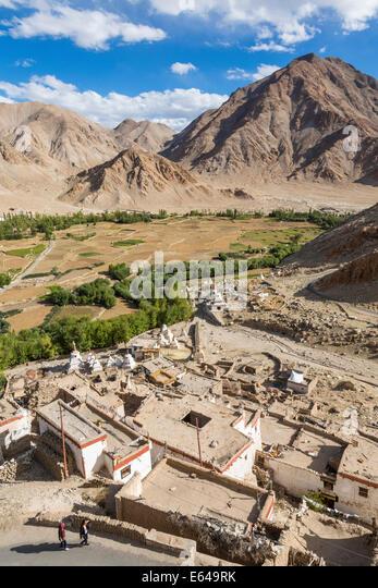 Chemre oder Chemrey Dorf, nr Leh, Ladakh, Indien Stockbild