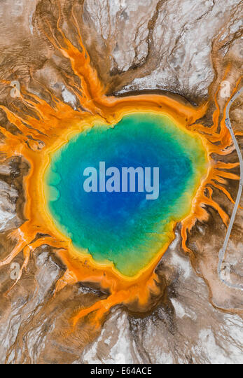 Grand Prismatic Spring, Midway Geyser Basin, Yellowstone-Nationalpark, Wyoming, USA Stockbild