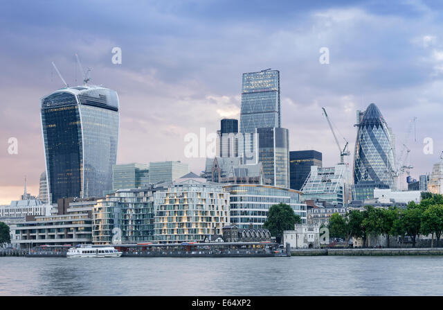 Der Londoner Skyline, UK. Stockbild