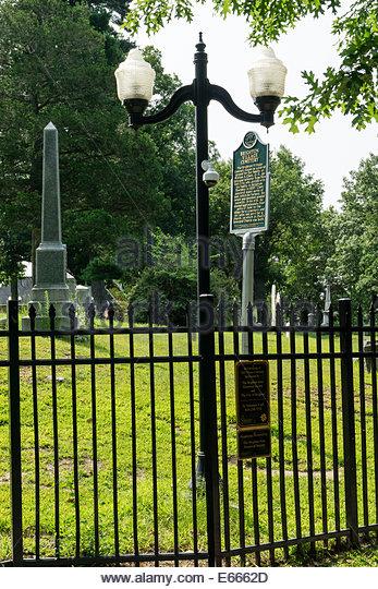 Die Brighton Dorffriedhof, als Michigan State Historic Site, aus der Mitte-1800 Stockbild