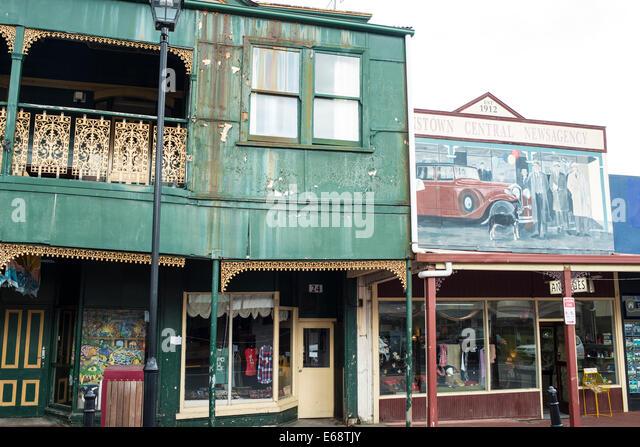Straßenbild, Queenstown, Tasmanien Stockbild