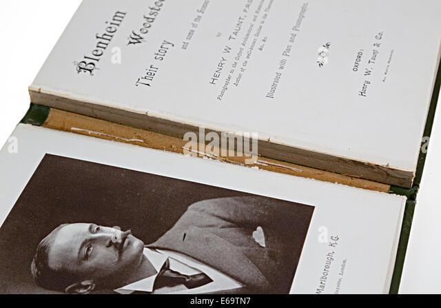 Antiquarisches Buch mit beschädigten Wirbelsäule Stockbild