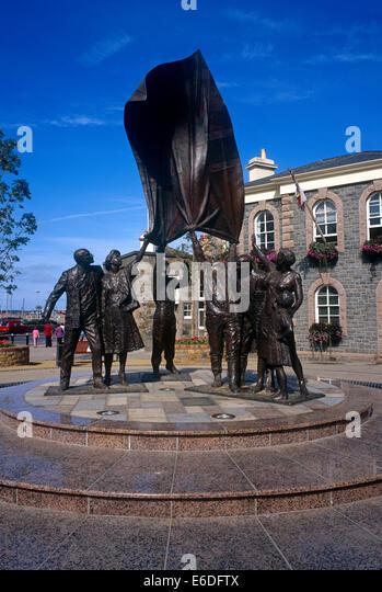 Liberation Monument St Helier Jersey Kanalinseln UK Stockbild