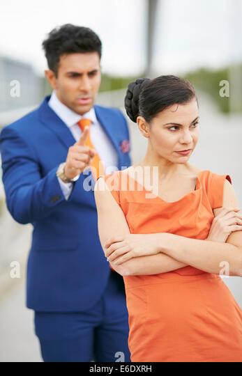Paar-Konflikt Stockbild