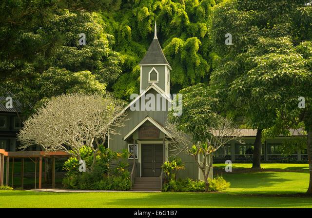 Die Ka Lokahi Oka Malamalma Kirche. Lanai, Hawaii Stockbild