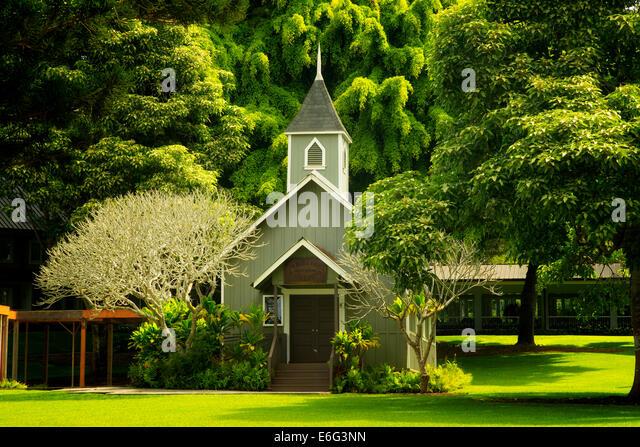 Kirche in vier Jahreszeiten Lodge at Koele. Lanai, Hawaii. Stockbild