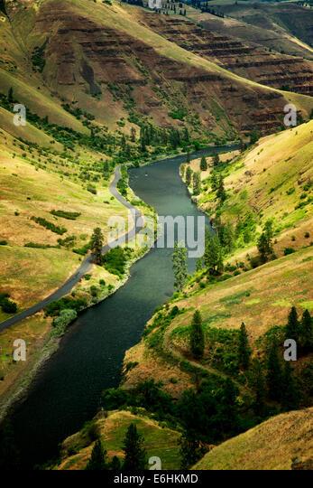 Grand Ronde Wild und Scenic River und Canyon. Oregon Stockbild