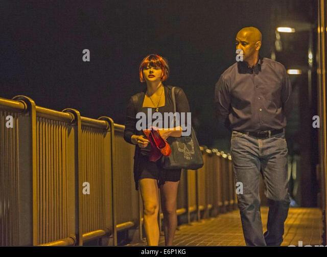 DER EQUALIZER 2014 Columbia Pictures Film Chloe Grace Moretz mit Denzel Washington Stockbild