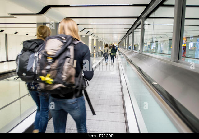 Heathrow terminal Reisen transit Stockbild