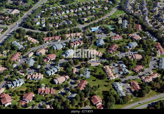 Wohnanlage, Monroe Township, NJ Stockbild