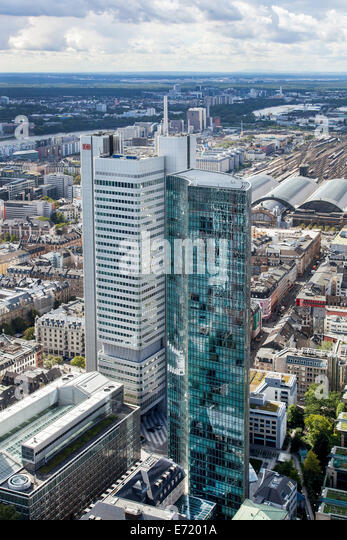 Wolkenkratzer, Silberturm oder Silver Tower, Deutsche Bahn AG und Skyper, Westend, Frankfurt Am Main, Hessen, Deutschland Stockbild