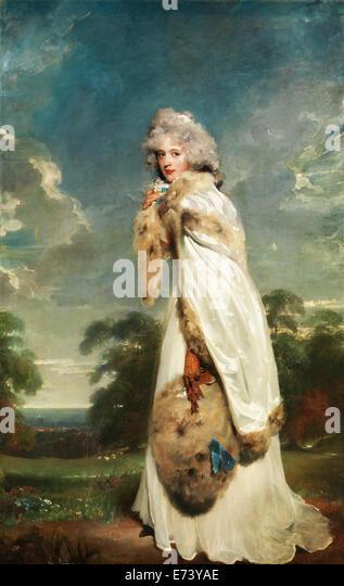 Elizabeth Farren, spätere Gräfin von Derby - von Thomas Lawrence, 1790 Stockbild