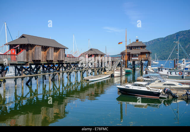 Cowichan Bay, British Columbia, Kanada Stockbild