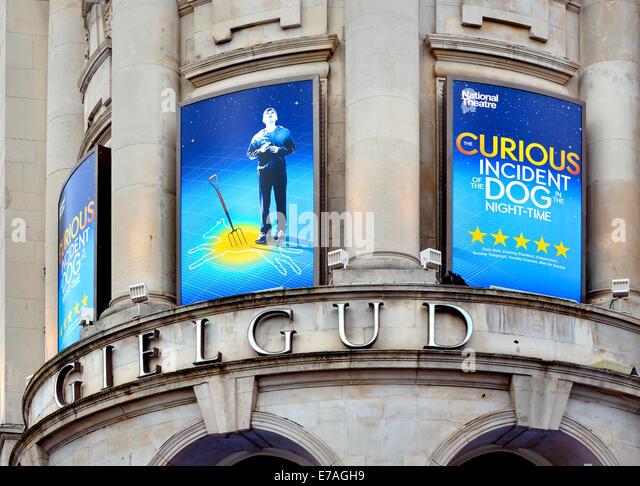 "London, England, Vereinigtes Königreich. ""Curious Incident of the Dog in the Night-Time"" am Gielgud Stockbild"