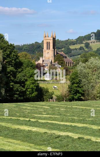 Kirche St. Michael und alle Engel, Broadway, Worcestershire, England, Vereinigtes Königreich, Europa Stockbild