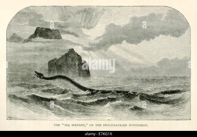 Seeschlange, Abbildung der Überlebende Dinosaurier als Erklärung der Sichtungen. Siehe Beschreibung für Stockbild