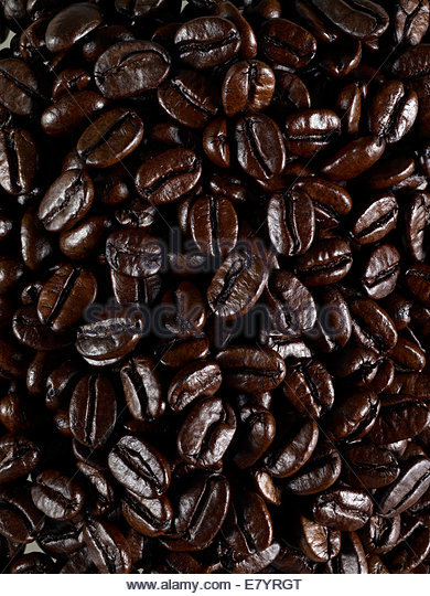 geröstete Kaffeebohnen Stockbild