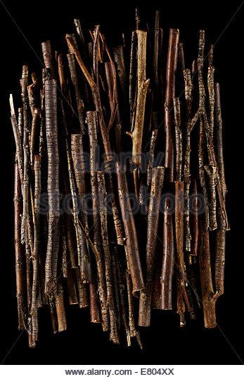 Stöcken und Zweigen Stack Textur Hintergrund Stockbild