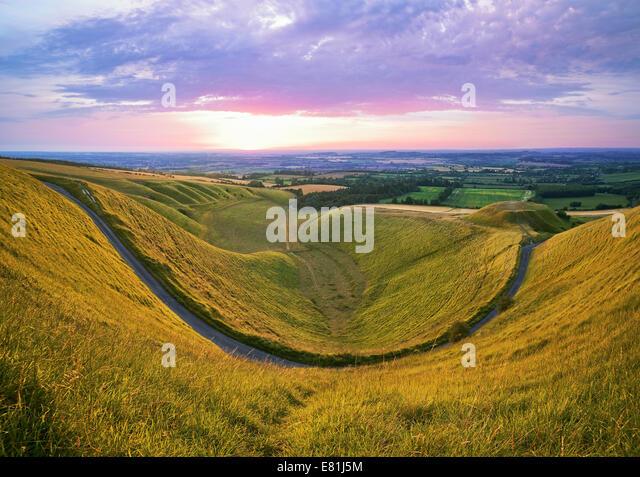 Die Krippe Uffington, Oxfordshire, England, UK. Stockbild
