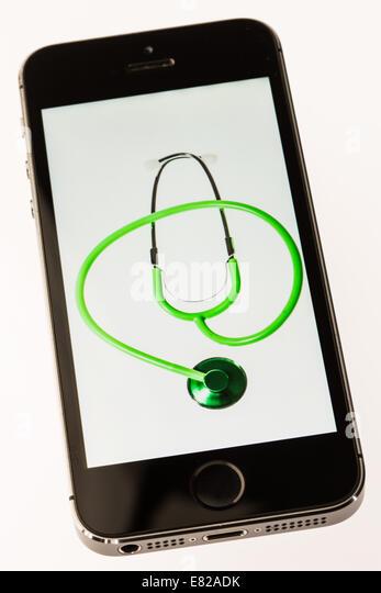 Health-app. Stockbild