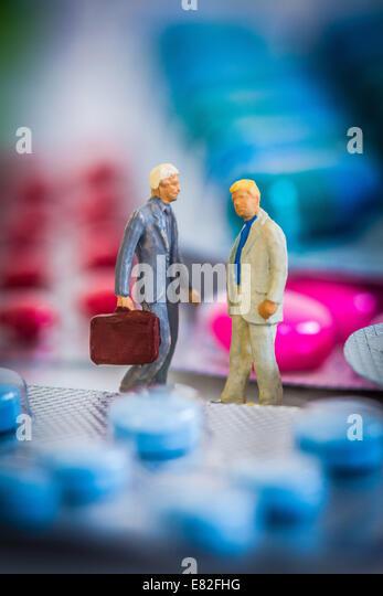 Arzt und Medizin. Stockbild