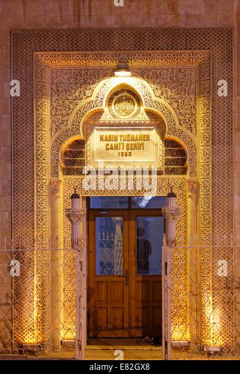 Türkei, Mardin, Portal der Kasim Tugmaner Moschee Stockbild