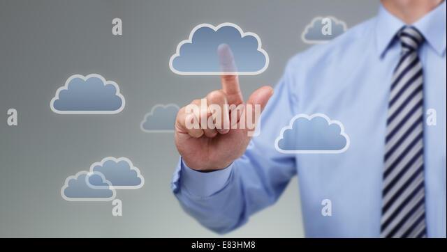 Cloud-computing-Konzept Stockbild