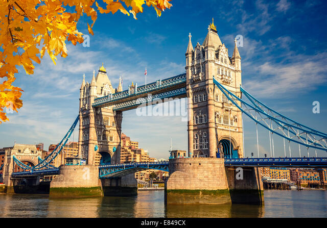 Tower Bridge in London Stockbild
